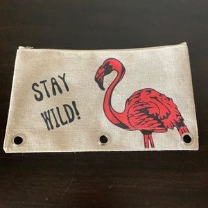 Stay Wild Flamingo Pouch